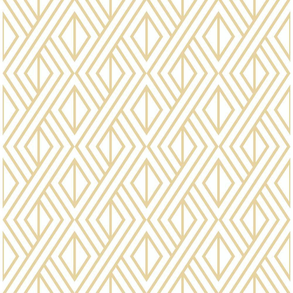 Nextwall Gold Diamond Geometric Peel And Stick Wallpaper Nw30105 Peel Stick Wallpaper Gold Removable Wallpaper Geometric Wallpaper