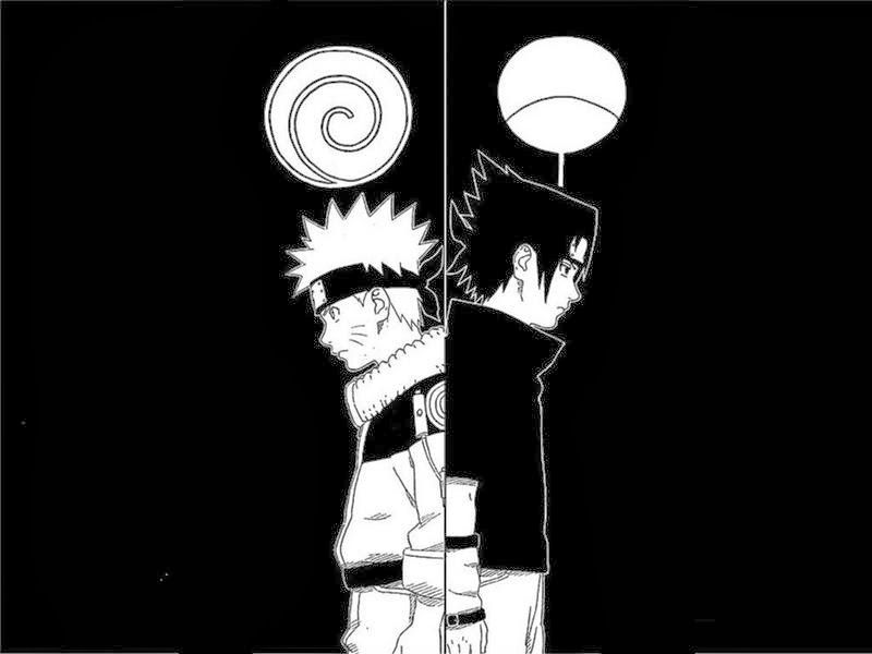 Wallpaper Hitam Dan Putih Naruto Dan Sasuke Gambar Kartun Lucu Naruto Wallpaper Naruto And Sasuke Wallpaper Background Images Wallpapers