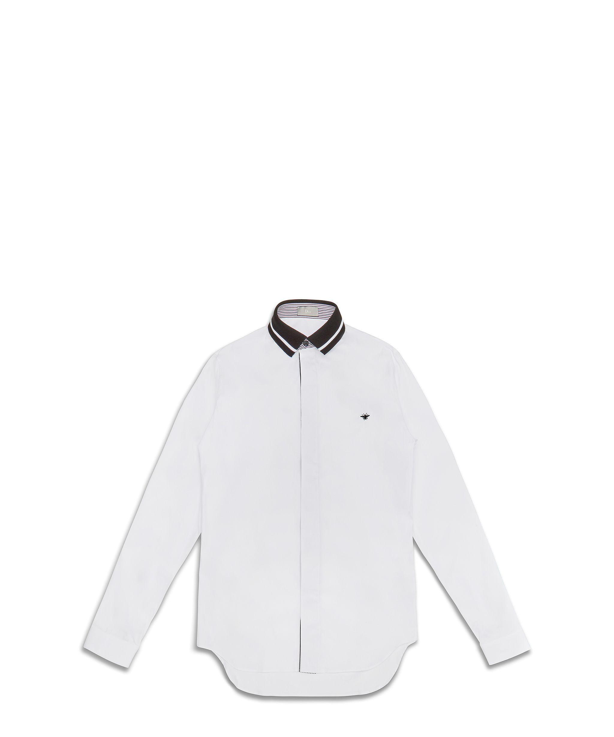 aba55928399c Dior Homme Chemise en coton blanc, broderie abeille, 390 euros   Mode homme    Menswear   Chemise, Broderie abeille et Mode