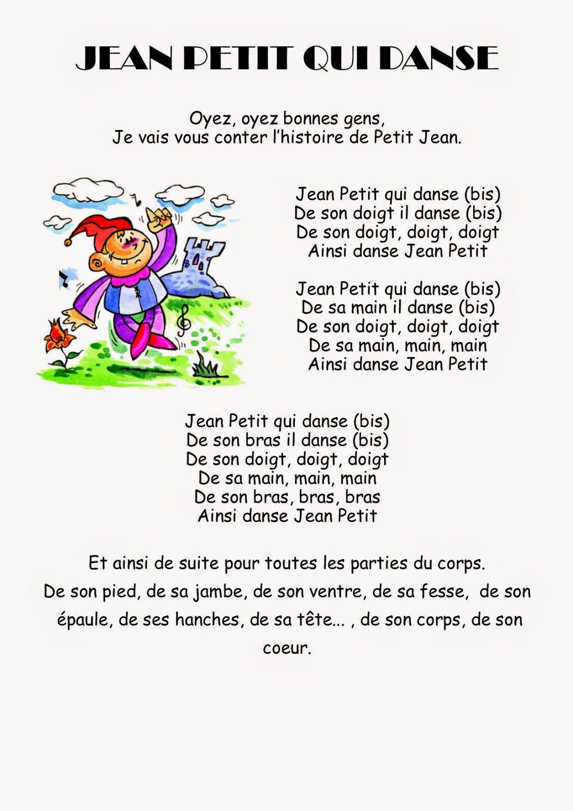 Jean Petit Qui Danse Paroles : petit, danse, paroles, Petite, Maternelle, Comptines,, Petit, Danse,, Chansons