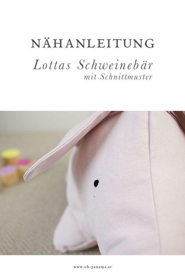 Lottas Teddy: Nähanleitung für den Schweinebär