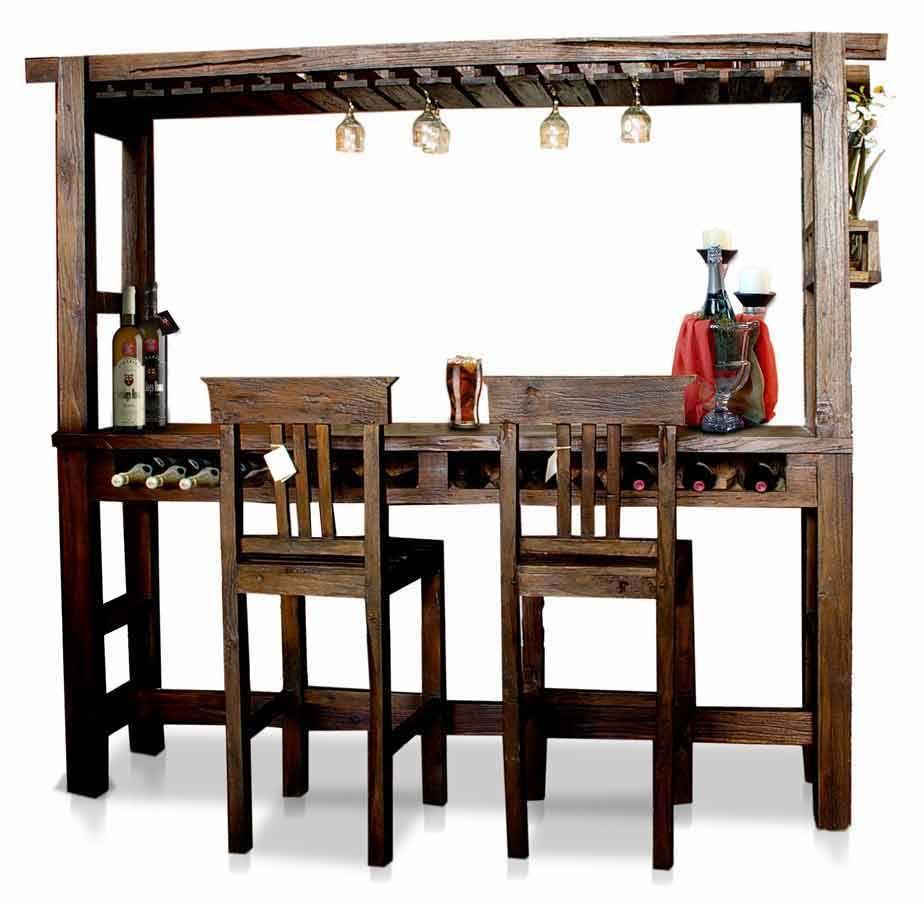 Barras de bar de madera barra de bar bamb barra de for Mueble bar exterior
