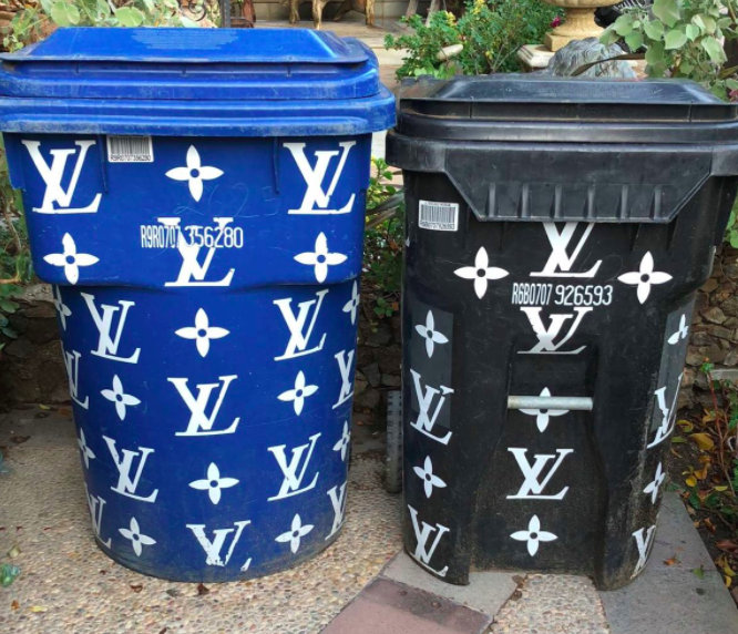 Kim Kardashian Posted Picture Her Fancy Garbage Cans
