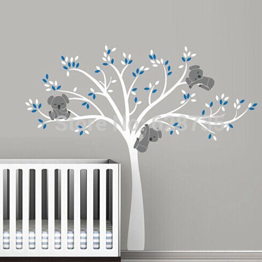 Simple Jetzt baum wandtattoo zum Verkauf zu g nstigen Preisen kaufen Freies verschiffen bergro e Gro e Koala Baum Wandtattoos f r baby kindergarten baby nursery