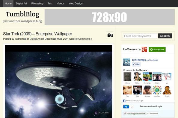 TumblBlog Free WordPress Tumblr Style Theme Updated v1.0.1 ...