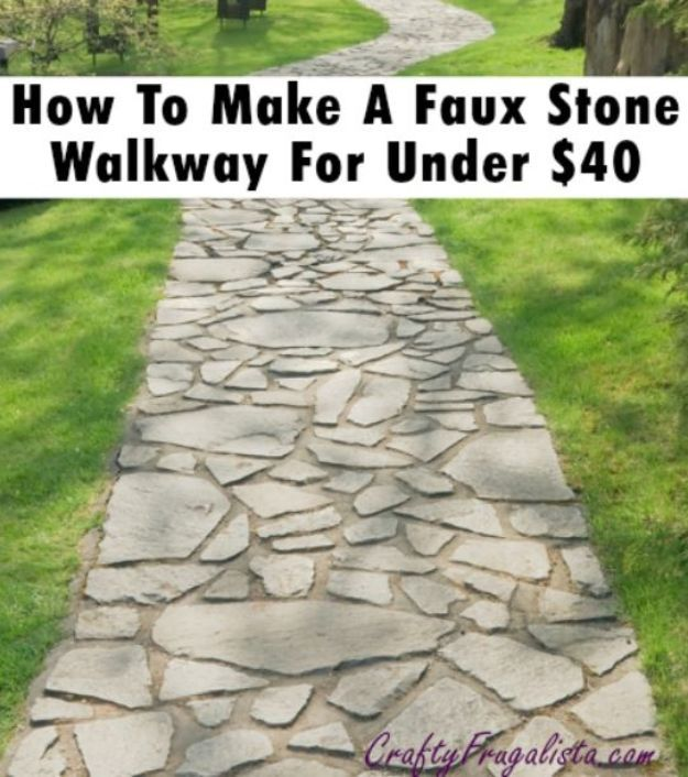 Making A Wonderful Garden Path Ideas Using Stones: 34 DIY Walkways For A Perfect Path