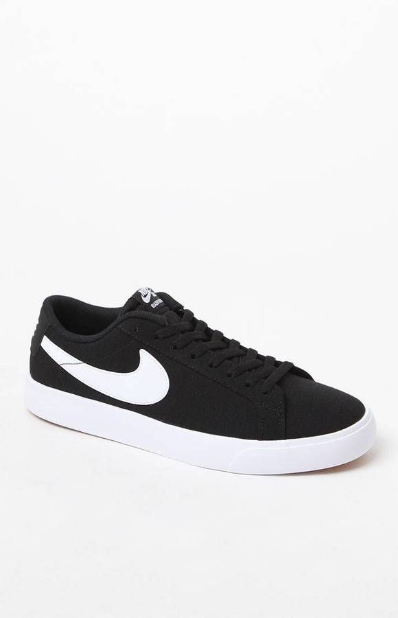 wholesale dealer 13b2a 5a4bb Nike SB Blazer Vapor Canvas Black  White Shoes