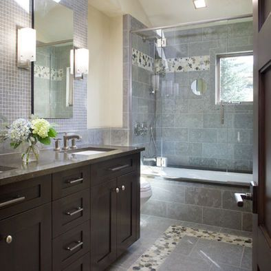 spaces grey tile design, pictures, remodel, decor and