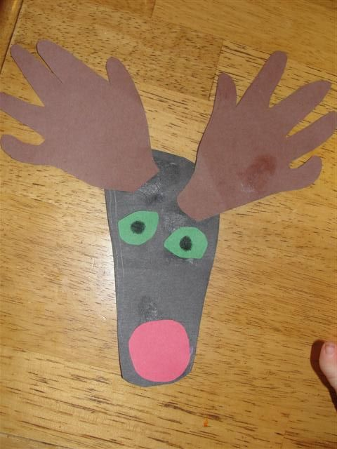 Christmas Craft Ideas For 3 Year Olds Part - 18: Hand And Footprint Reindeer Craft | Craft, Reindeer Craft And Sunday School