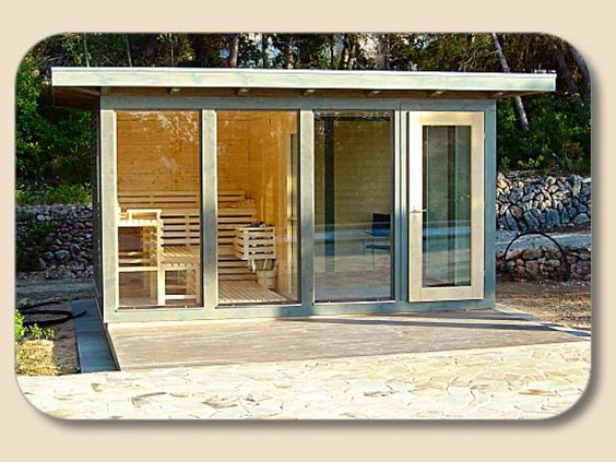 saunen designsauna sauna bausatz saunen f r au en au ensaunen garten pinterest sauna. Black Bedroom Furniture Sets. Home Design Ideas