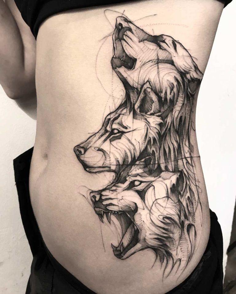 Pin By Eileen Lim On Tatuirovki Wolf Tattoos Half Sleeve Tattoos Designs Wolf Tattoo Sleeve