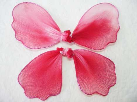 What making nylon butterflies and flowers bon revoir