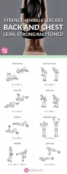 Chest And Back Strengthening Exercises | Lean, Strong And Toned Upper Body