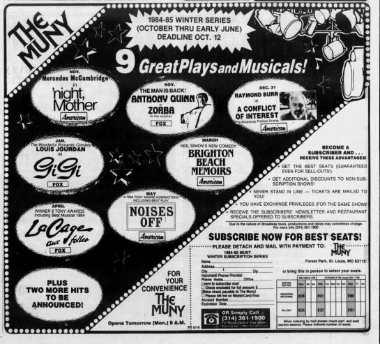 Muny Winter Series 1984 85 In 2020 New Comedies Muny Louis