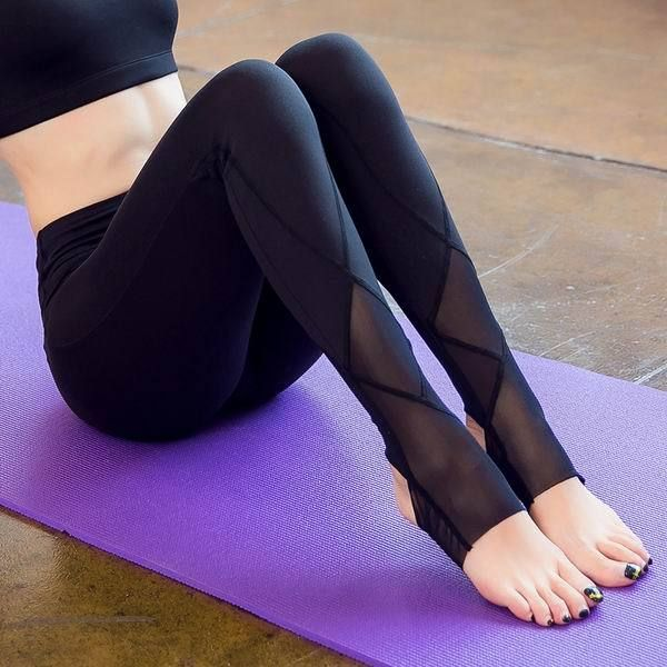 f1eb1d00a5037 Women Sexy Yoga Pants Fit Sport Pants Fitness Gym Workout Running Tight  Leggings Trousers