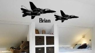 Personalized Jet fighters--14 X 40 inch Military sticker.. $26.00, via Etsy.