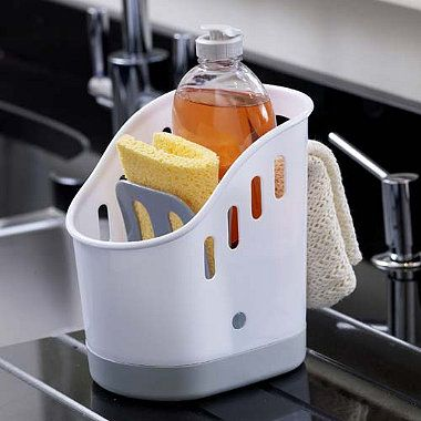 Sink tidy - a place for your sponge, gloves, cloth and washing up ...