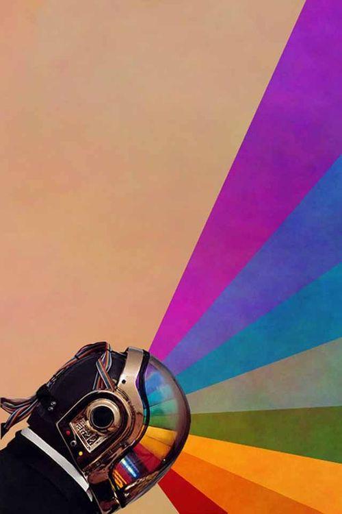 Guy Manuel- Daft Punk   Daft punk, Wallpaper iphone neon ...