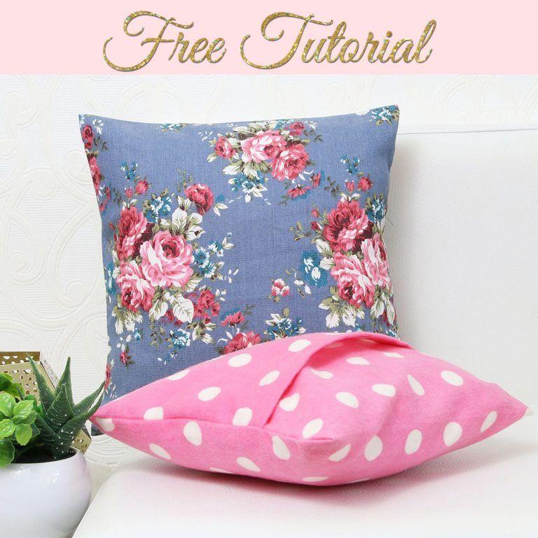 DIY 10 minute Envelope Pillow Cover
