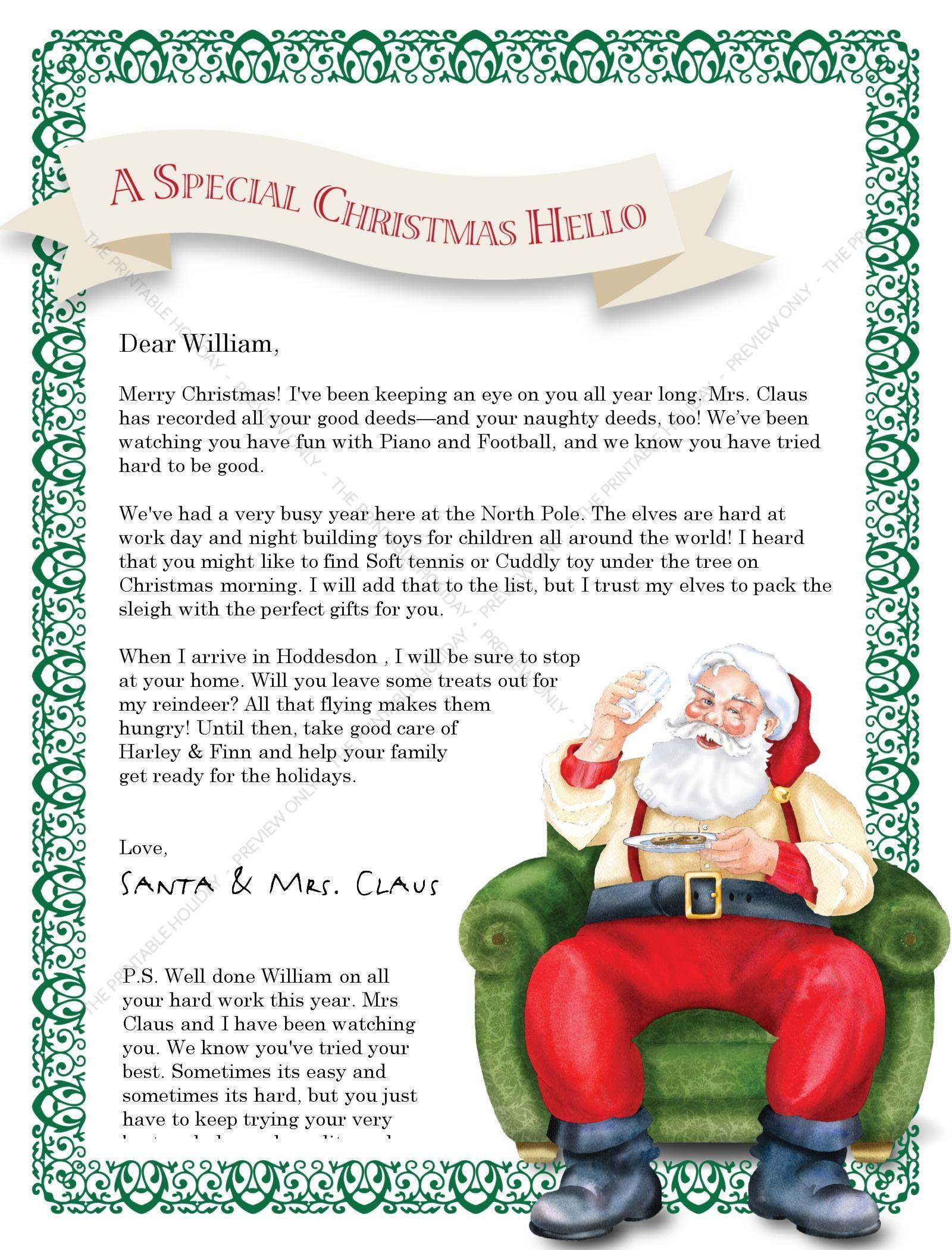 North Pole Santa Letter jo