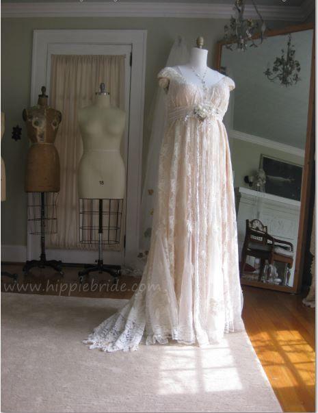Plus Size Bohemian Vintage Wedding Dresses