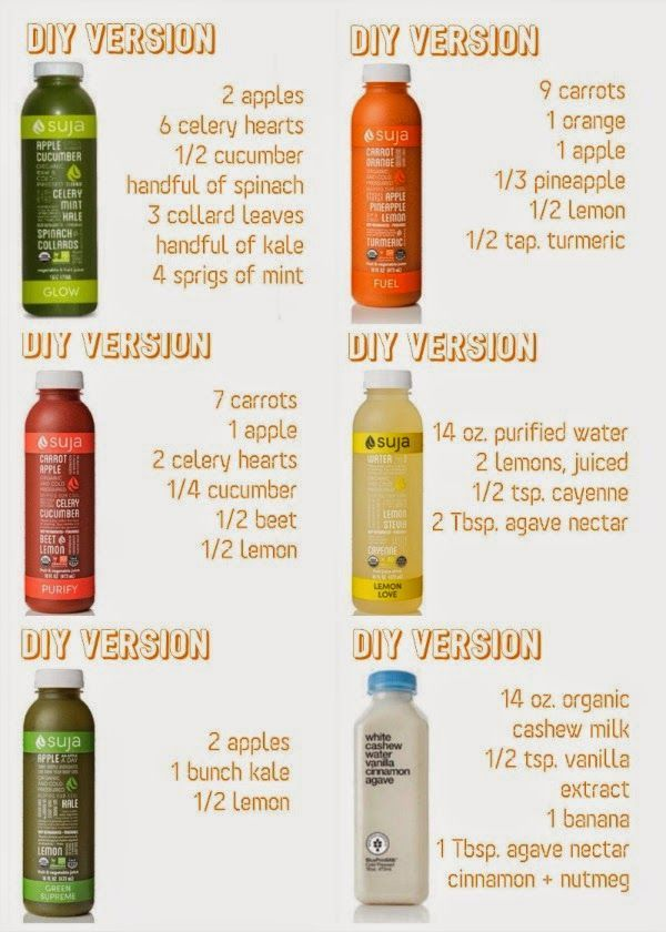 DIY 3-Day Suja Juice Cleanse (~$65) #healthyjuicerecipes