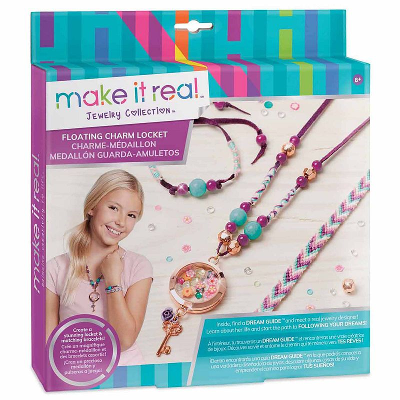 Make It Real Kids Art Set Floating Charms Locket Charms Art
