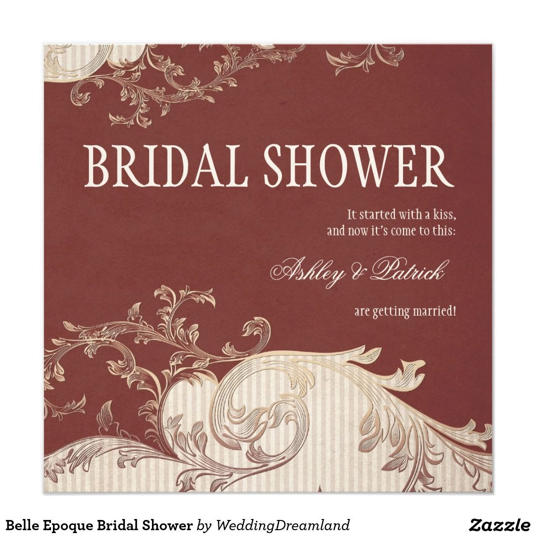 Belle Epoque Bridal Shower Card | Shower invitations and Bridal showers