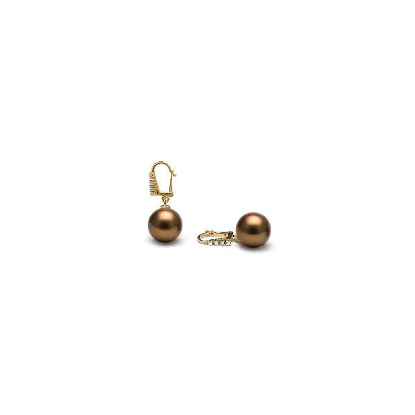 Rapture Collection Chocolate Tahitian Pearl Diamond Dangle Earrings 46 Liked On Polyvore Featuring