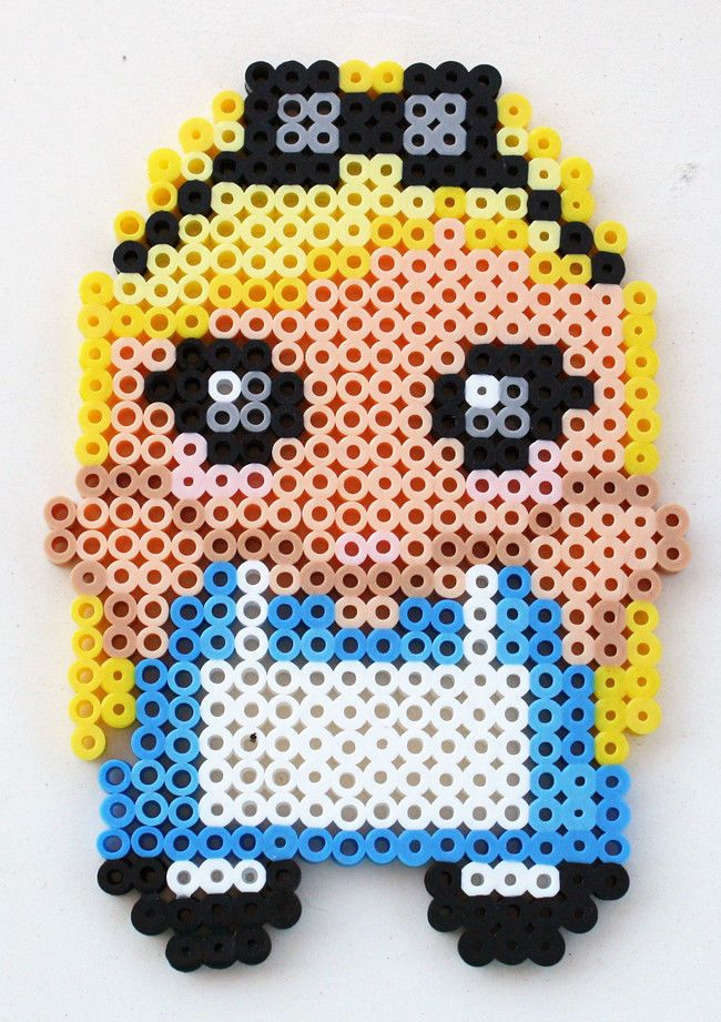 Perler Bead Chibi Alice in Wonderland Fridge Magnet or Wall Art  by theplayfulperler