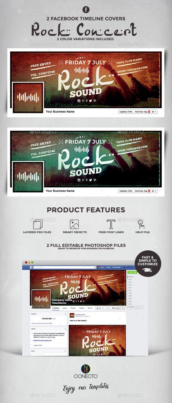Facebook Timeline Cover - Rock Concert - #Facebook #Timeline Covers #Social Media Download here: https://graphicriver.net/item/facebook-timeline-cover-rock-concert/14673611?ref=alena994