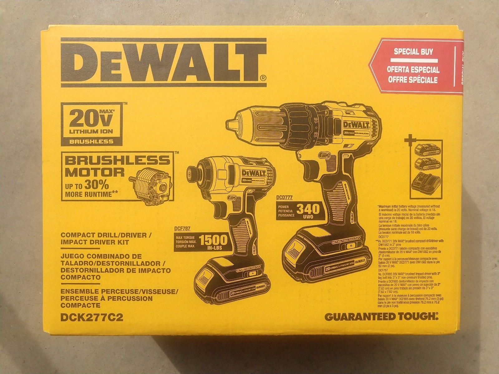 DCK277C2 POWER TOOLS 20V DCK277C2 Drill COMBO Set NEW NEW NEW!!!