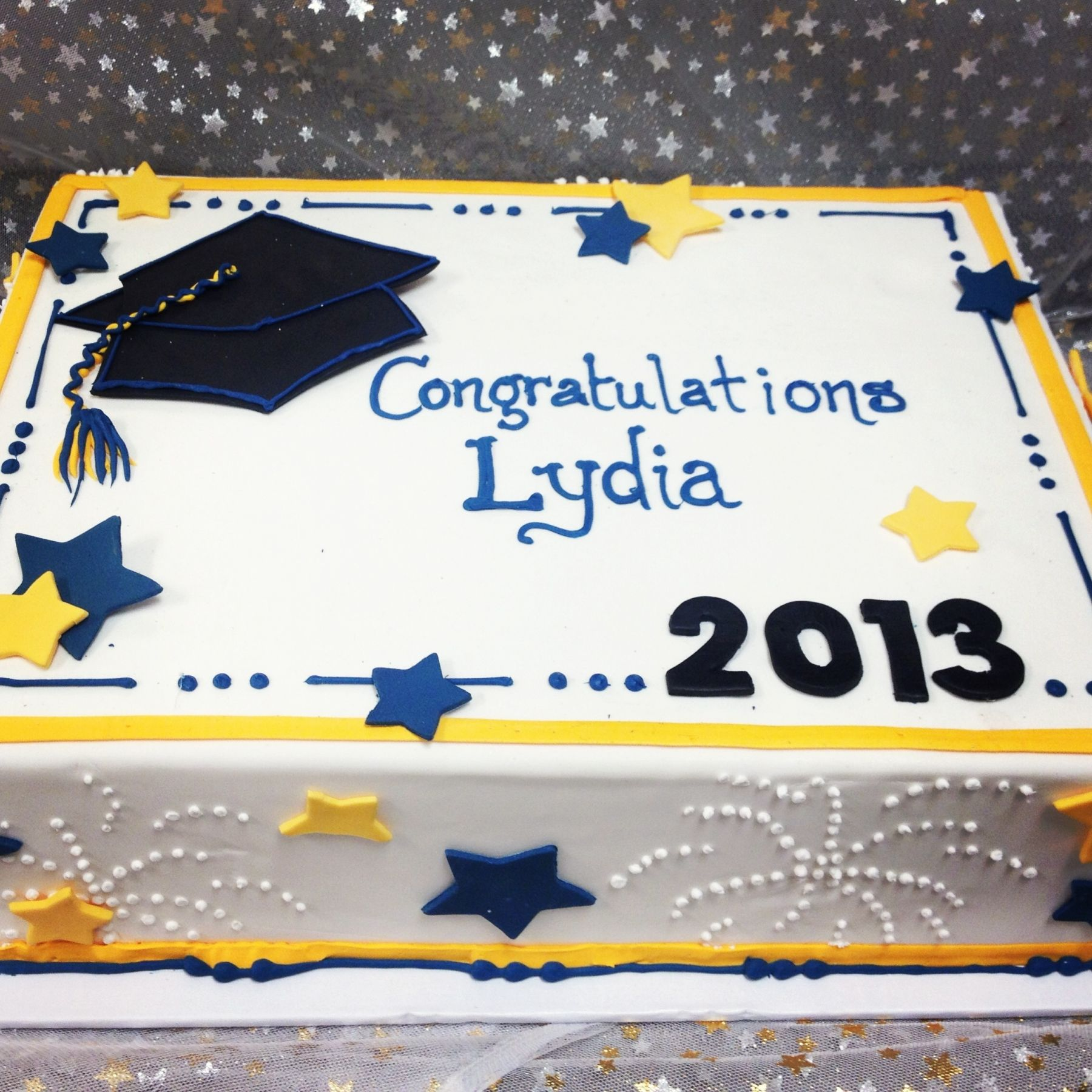Graduation Cakes Graduation 2013 Shown As Half Sheet Cake 50 60