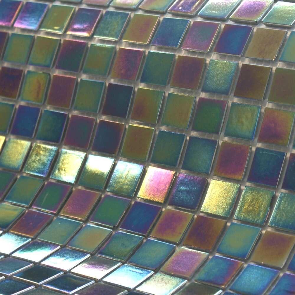 Pewter Tiles Iridium Iridescent Mosaic Swimming Pool Tiles