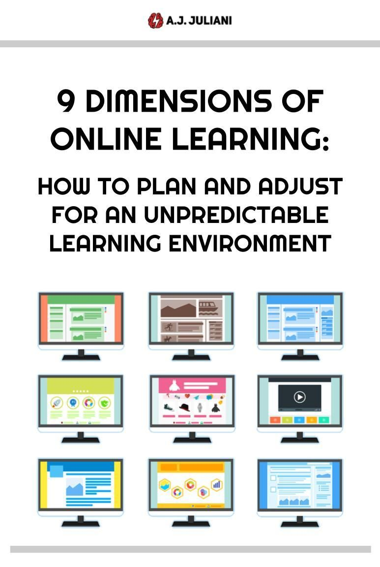 The 9 Dimensions of Online Learning How to Plan and