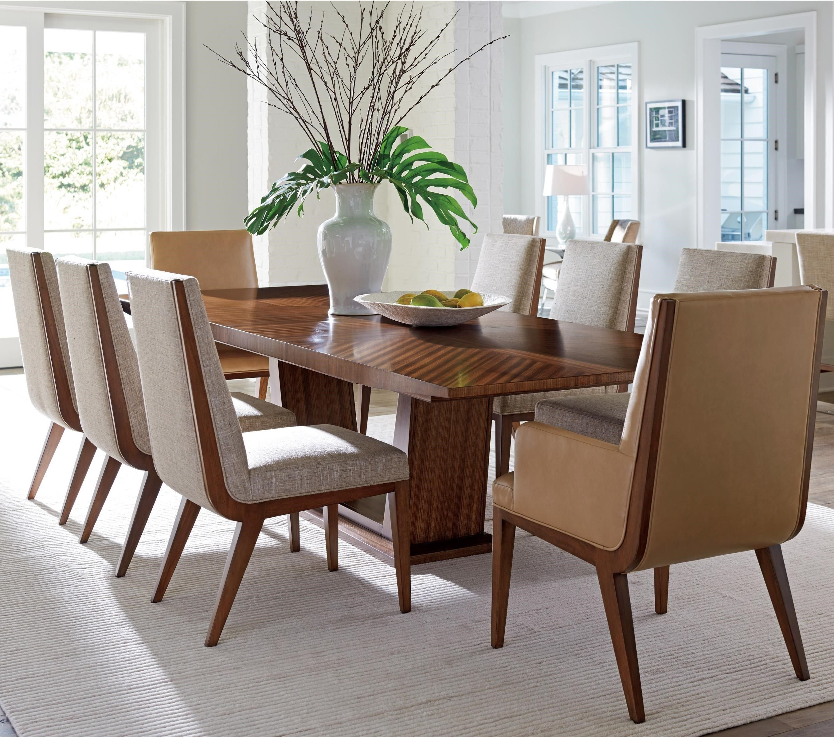 Kitano Nine Piece Dining Set With Caldera Table By Lexington