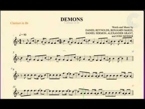 Clarinet Demons Imagine Dragons Sheet Music Chords And