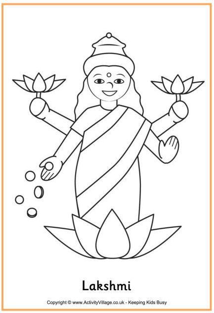 Colorear Lakshmi | COLOREAR | Pinterest | Colores, Proyectos y India