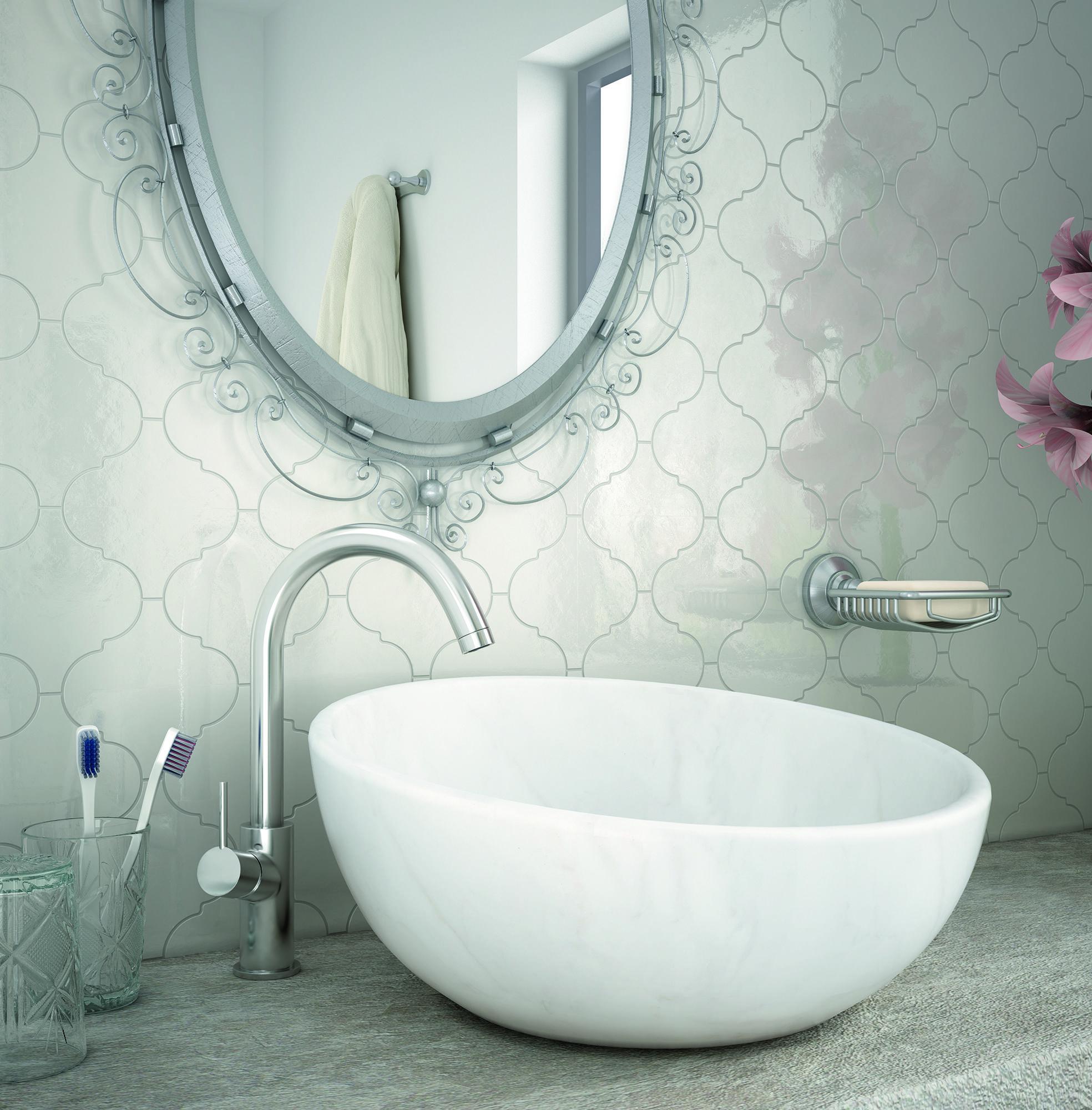 Moroccan Lantern White Gloss (NT15-2030WP)   Bathroom Tile Inspo ...