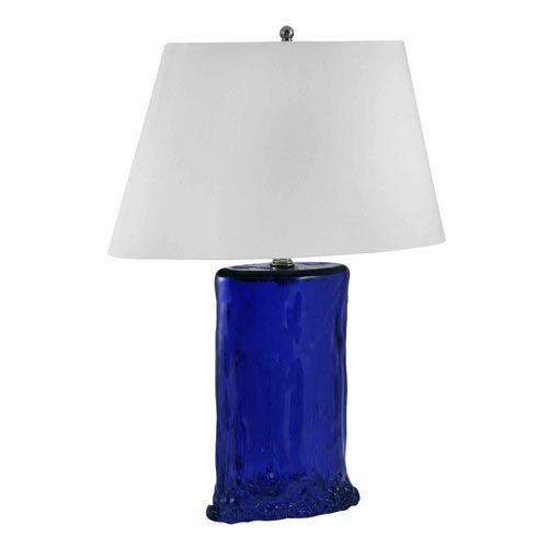 Cobalt blue oval recycled glass table lamp lamp works shaded table lamps lamps