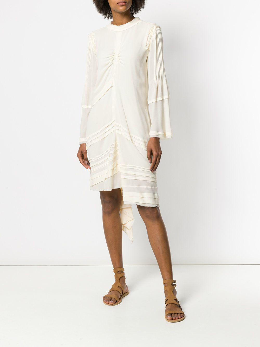 Chloe Ruffle Trim Asymmetric Hem Dress Asymmetrical Dress Dresses Day Dresses [ 1334 x 1000 Pixel ]