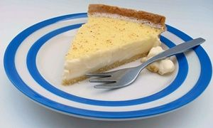Felicity Cloake's perfect custard tart. Photograph: Felicity Cloake for the Guardian