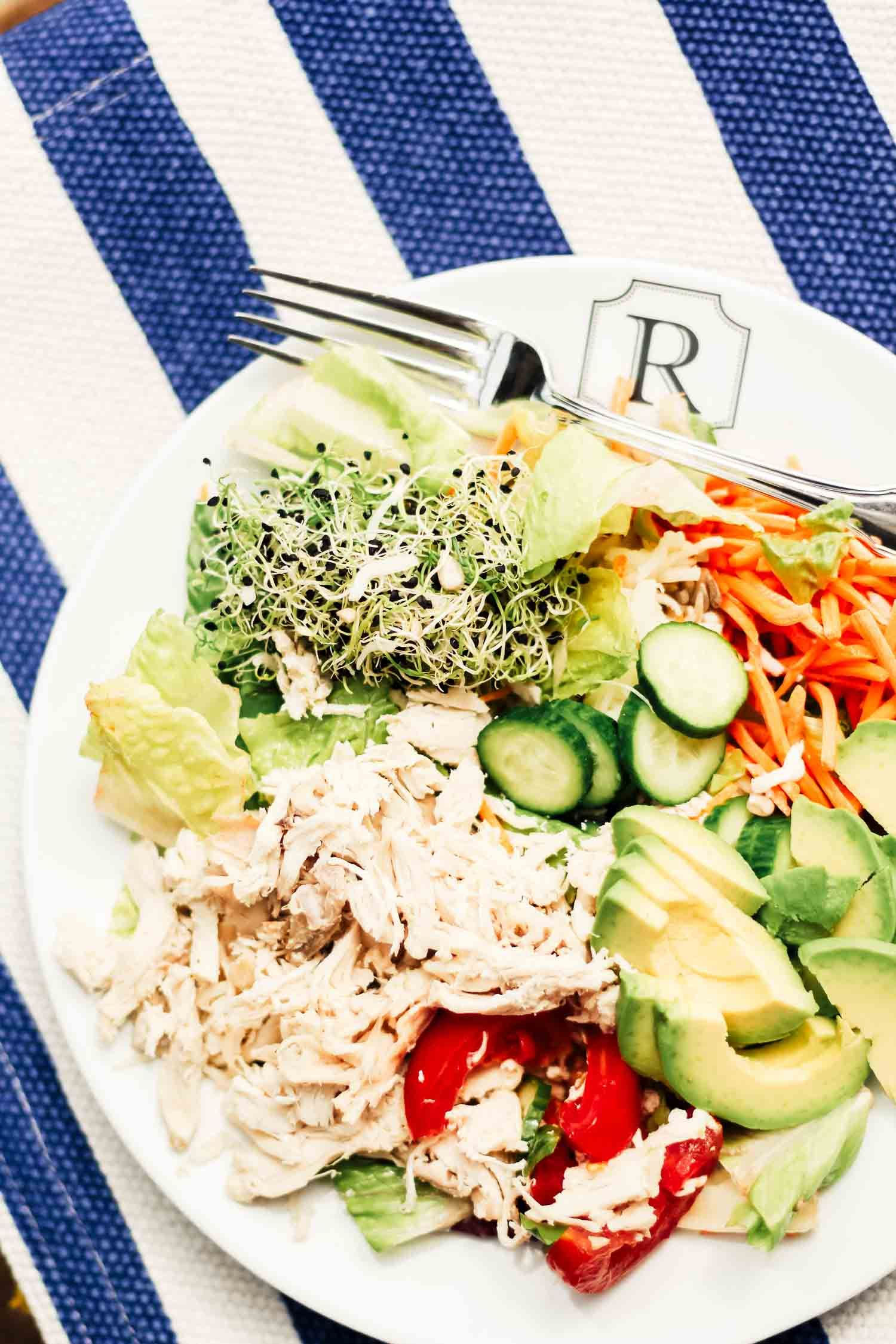 The salad the Kardashians are always eating! This recipe is inspired by the same cafe Kourtney, Kim, Khloe, Kendall and Kylie eat at 4 times a week!