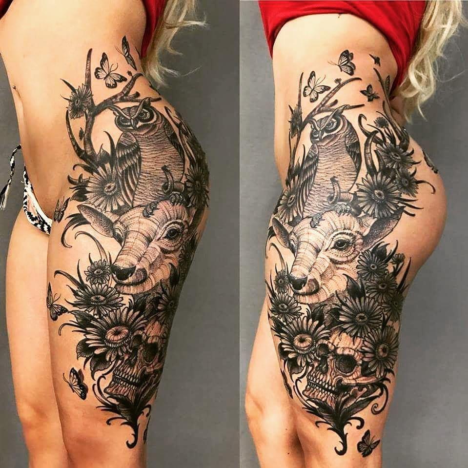 Pin by chris kenyon on tattoo thigh piece tattoos