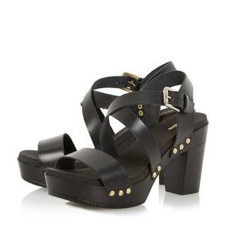 f049b5b301 Dune black block heel sandal. Wore these to a wedding at the weekend and  danced all night. Super comfy. www.dunelondon.com