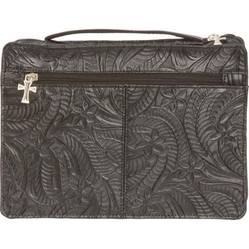 New-WESTERN-LEATHER-Tooled-Floral-Cowboy-Embossed-BIBLE-COVER-Casual-Outfitters