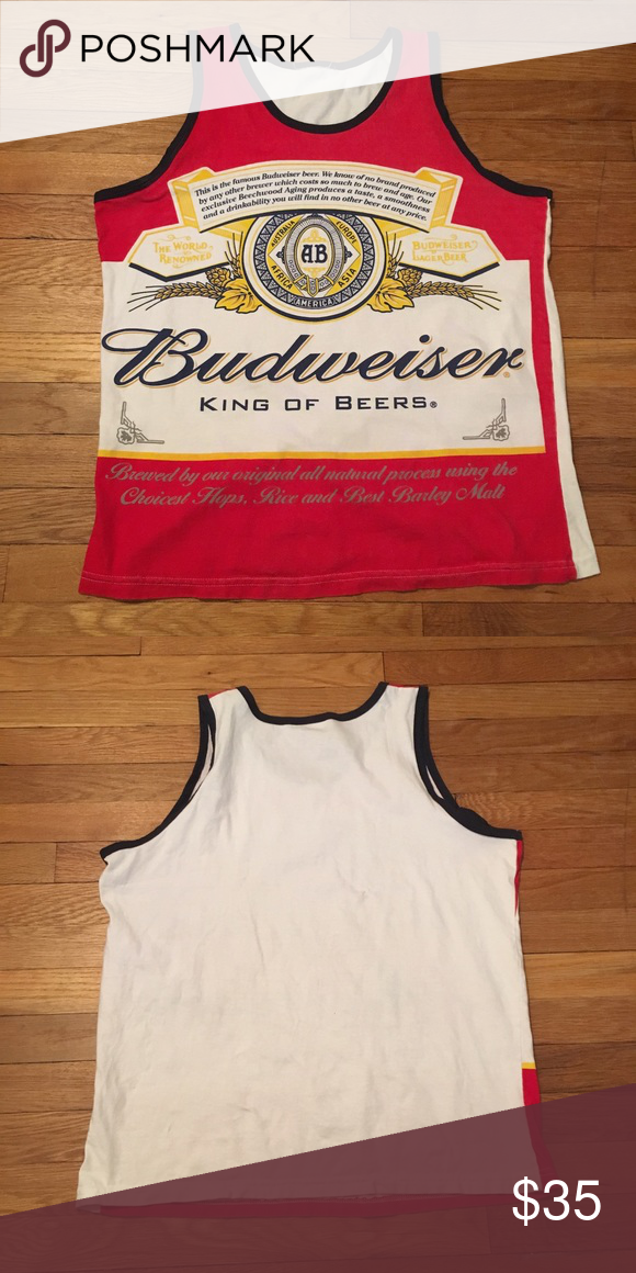 50ef195b6a73b VINTAGE MEN S BUDWEISER GRAPHIC TANK TOP Size  fits M L (tag ripped ...