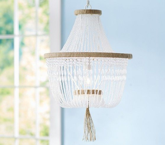 Baby girls chandelier rissa crystal beaded chandelier pottery barn kids