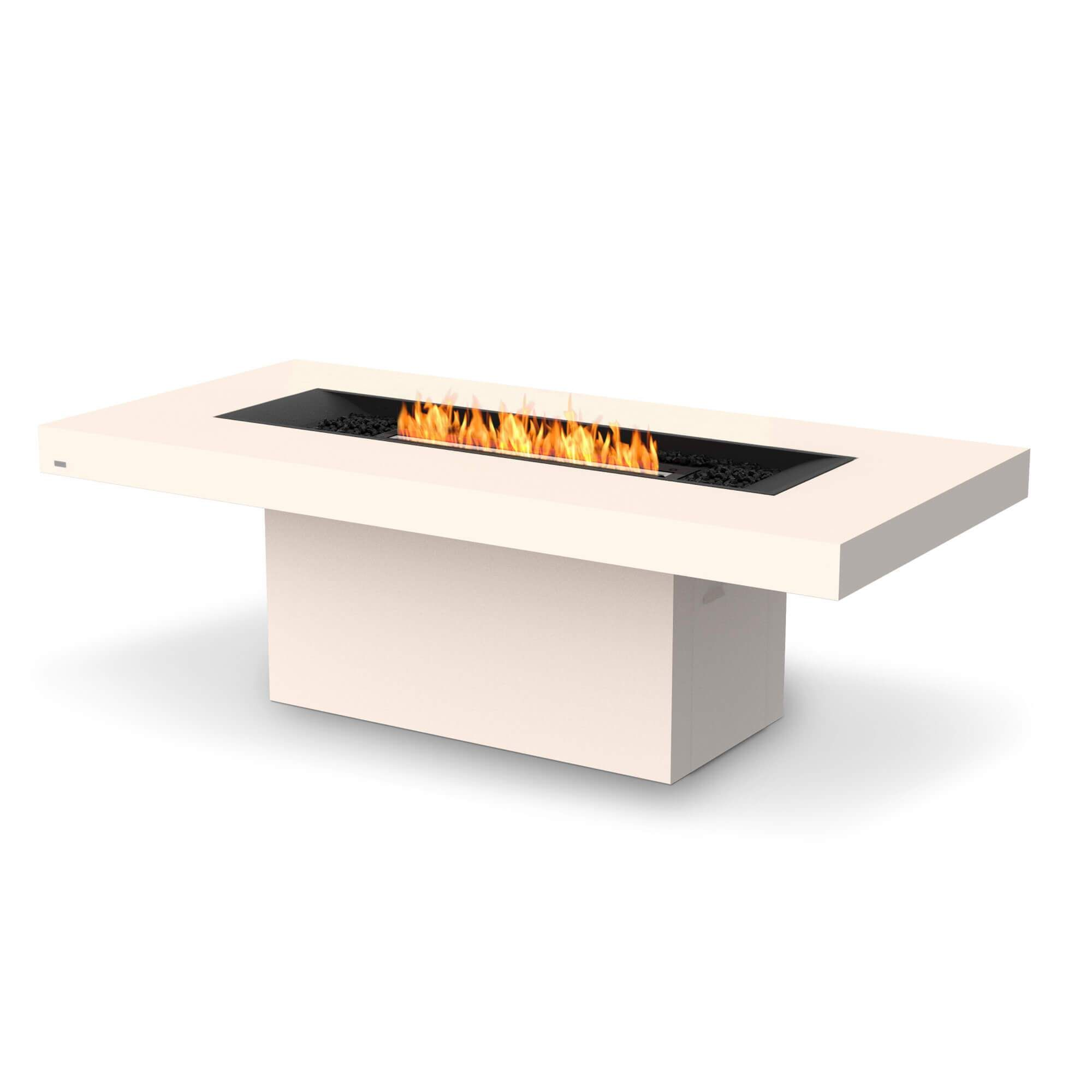 EcoSmart Fire Gin 90 Dining Bioethanol Fire Pit Table - Outdoor / Bone / Black