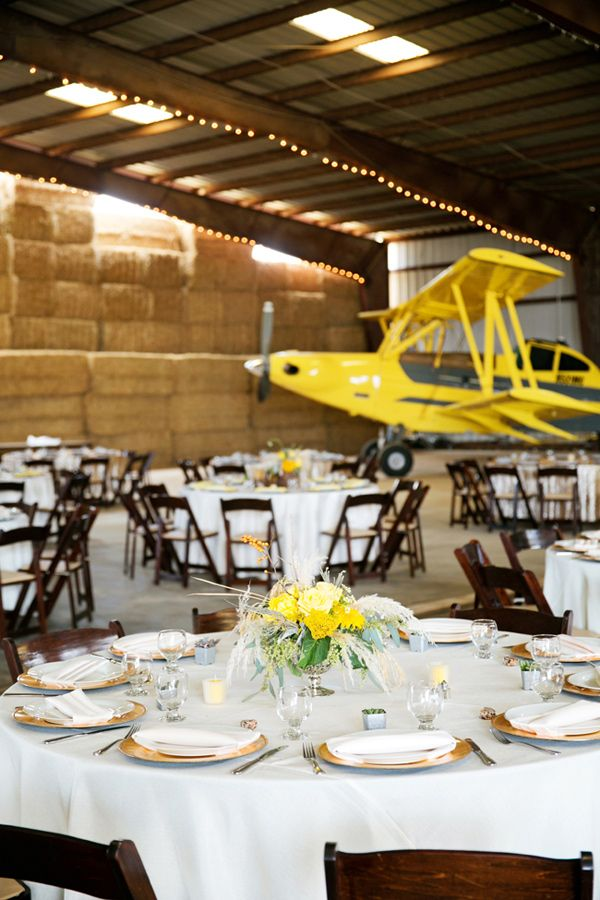 Stormy Day Plane Hangar Wedding